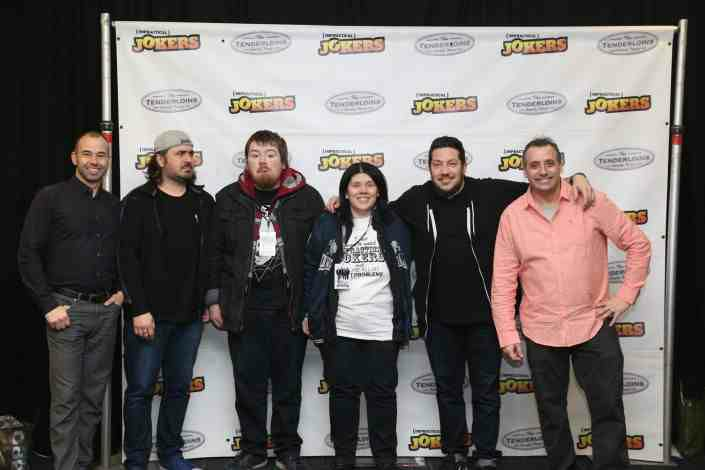 Get to know the tenderloins a group photo with james brian sal and joe during a meet and greet m4hsunfo